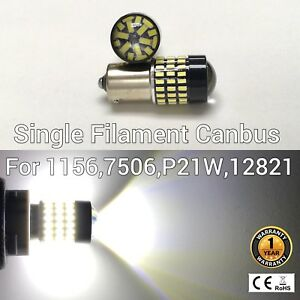 Rear Turn Signal Light 1156 BA15S 7506 3497 P21W 78 6000K White LED M1 For GM MA