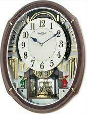 RHYTHM MUSICAL  WALL CLOCK NEW HARMONY BLESSING  WITH 30 MELODIES 4MH423WR23
