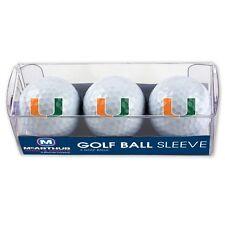 Miami Hurricanes Golf Balls 3 Pack University