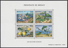 1990 MONACO BLOC N°51** BF SAISONS Fruit Citron Citronnnier, Lemon treeSheet MNH