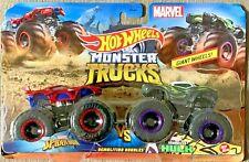 Hot Wheels Monster Trucks Spider-Man vs Venomized Hulk #GMR38 1:64 Scale Diecast