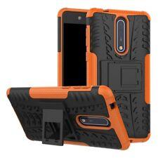 Carcasa híbrida 2 piezas EXTERIOR NARANJA Funda para Nokia 8 Protección Cubierta