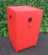 "ANDREW LAKEY RARE GIANT 38"" MODERN MEDITATION BOX RED TOWER ABSTRACT SCULPTURE"