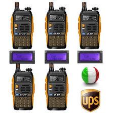 5×Baofeng GT-3 TP Mark III + Cavo 1/4/8W Radio Walkie Talkies Ricetrasmittente