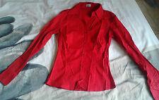 Comme neuve chemise manches longues rouge ETAM  taille 34