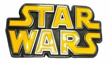 NEW Original STAR WARS metal logo belt buckle Black Yellow classic color Cosplay