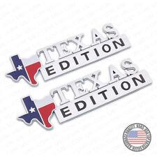2pcs 3D TEXAS Edition Car Truck Logo Emblem Badge Stickers For Chevy GM GMC
