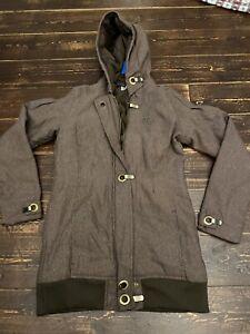 Adidas Originals Missy Elliott Baseline Hooded Coat winter Jacket Size 12 Medium