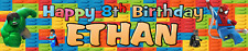 LEGO PERSONALISED BIRTHDAY CELEBRATION PARTY BANNER.