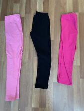 Lot Of 3 Girls Leggings The Childrens Place uniform Sz 10/12 14 Black Pink Nwot