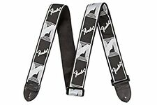 Fender Guitar Strap (2 Inch) - Monogrammed - Black/Light Grey/Dark Grey