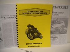 Harley-Davidson Aermacchi Motorcycle Ala D'Oro Competition Racing Spec Booklet