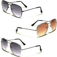 Air Force Gradient Lens Vintage 80s Retro Aviator Sunglasses Mens Womens Glasses