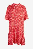 NEXT Red Floral Print Ruffle Hem Midi Dress Size 18 Tall BNWT RRP £38 Party Work