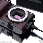 New GARIZ Sony NEX-6 Leather Half Case Brown For Sony Alpha NEX-6 NEX6 Case