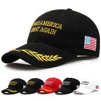 Black Red  Olive Branch Trump Hat Make America Great Again MAGA Baseball Cap Hat