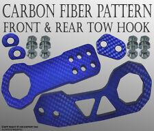 JDM Billet Aluminum Racing Front Rear Tow Hook Kit CNC Anodized Color Blue F231