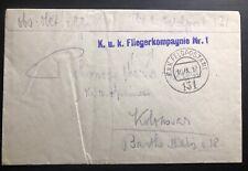 1917 Kuk Air Force Feldpost Austria Cover FLIGERKOMPAGNIE #1