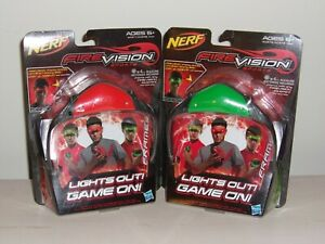 Nerf Fire Vision Sports GREEN AND RED FRAMES Hasbro Light Glow 2012 Set Sealed