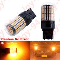 2x 7440 7443 Amber/Yellow Anti Hyper Flash High Powe LED Turn Signal Light Bulb