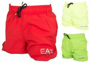 Junior sea or pool boxer EA7 EMPORIO ARMANI article 906005 7P772 SEA WORLD BW CO