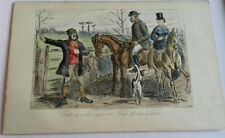 GENIUNE VICTORIAN FOX HUNTING HORSE EQUESTRIAN PRINT