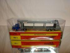 SCHUCO PICCOLO 761 KRUPP CAR TRANSPORTER - BLUE GREY 1:90 - EXCELLENT IN BOX