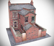 7mm Scale Victorian Terraced House Backs Card Model Kit Ideal For O Gauge Trains