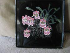 tableau peinture sur laque Nguyen Thanh Léy 1919-2003 Indochine Vietnam Orchidée