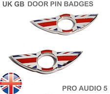 2x Mini Porte Pin Badges Union Jack Gb Badge Chrome-Qualité Premium-UK Post