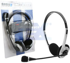 Headphones with Mic/in-line volume control for Skype PC gaming Headset ET-278