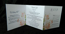 SAMPLE Roses Ensemble Wedding Invitation / RSVP / Wishing Well - All in One!!