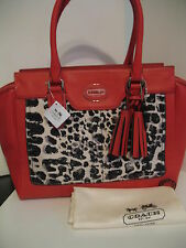 NWT Authentic COACH Legacy OCELOT MEDIUM CANDACE CARRYALL BAG 19989