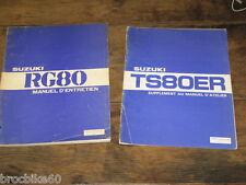 MANUEL REVUE TECHNIQUE D ATELIER SUZUKI 80 ER GT RG 1982->