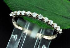 14k Solid Rose gold Natural Diamond Anniversary band ring 0.30 ct shared prong