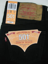 501 LEVI'S JEANS MENS NWT 501-0660 BLACK PRESHRUNK *ALL SIZES AVAILABLE*