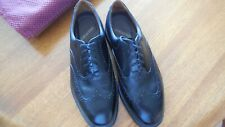 Rockport Dressport Black Leather Wingtip Brogue Dress Shoes Size 11.5 W Men's
