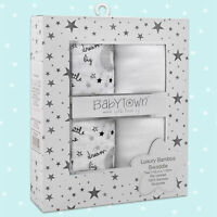 LARGE 110cm Baby Bamboo Muslin Swaddle Blanket Kid Newborn Wrap Organic 2-PACK