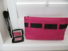 Lancome Blush Subtil (Travel Sz Rose Fresque) & Full Size Blush Brush + Pink Bag