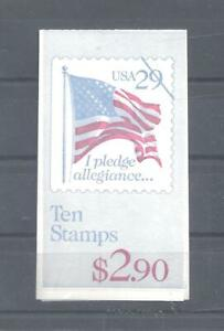 US, 1991, #BK195, 29c Flag/Pledge, complete $2.90 booklet