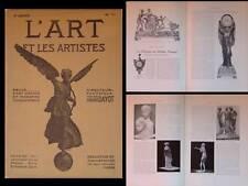 L'ART ET LES ARTISTES 1911 PENDULES NAPOLEON, LIBERO ANDREOTTI, VALDES LEAL