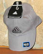 adidas climalite Ball Cap Adjustable Slouch Hat Golf 100% Cotton Light Grey