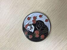 10 PACK SKULL & ROSES CHINESE YIN - YANG 1 3/4 in 2 POST GRATEFUL DEAD RELIX PIN