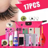 17pcs/Set Mannequin Makeup Training False Eyelashes Extension Practice Tool Kit