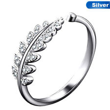 Fashion Simple Open Design Leaf Ring Flower Rings Wedding Rings for Women