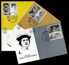 Israel 1076-1078, Maxi cards, Famous Women Portraits, Bale 1044-1046, 1991