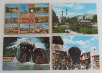 Postkarten Lot SYRIA 4 x Postcard (Aleppo Alep, Damas Damaskus) mit Briefmarken