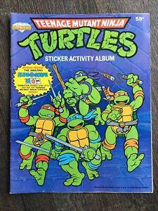 1989 Teenage Mutant Ninja Turtles Sticker Activity Album Diamond Trading Club