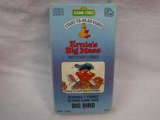 Vhs Rare Video Tape Sesame Street Start To Read Ernie's Big Mess & other lot B