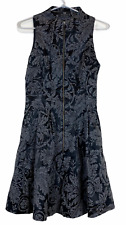 Cue Womens Black/Silver Sleeveless Halter Neck Lined Dress Size 10